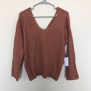 Astr Sweater with cute back detail!